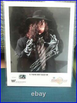 Signed Wwf Undertaker P-223 Original 8x10 Summer Slam 1994 Promo Photo Rare Jsa