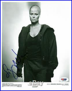 Sigourney Weaver Alien 3 Authentic Signed 8x10 Promo B&W Photo PSA/DNA #J00626