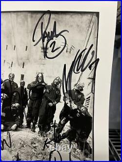 Slipknot Promo Photo Autographed By 9 Members (Gray Jordison)