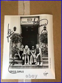 Spice Girls Music Legends Original Autographed Signed Promo Photo + COA