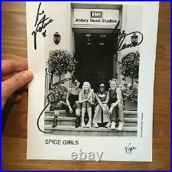 Spice Girls hand signed autograph 8x10inch promo photo Beckham Mel B Emma Mel C