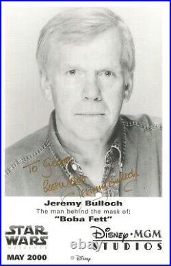 Star Wars Jeremy Bulloch Hand Signed Disney 2000 Promo Photo Boba Fett Autograph