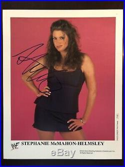 Stephanie McMahon Helmsley Signed WWF Original 8x10 Promo Photo Photo P662 WWE
