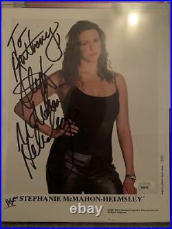 Stephanie McMahon Helmsley signed original promo wwf rare WWE jsa