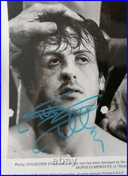 Sylvester Stallone Signed Autograph Promo Picture