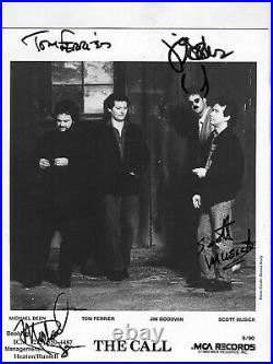 THE CALL rare signed 8x10 MCA promo photo incl. Michael Been / Epperson LOA