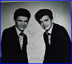 THE EVERLY BROTHERSRare Vintage Autographed Promo Photograph By Phil & Don