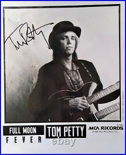 TOM PETTY hand signed promo COA