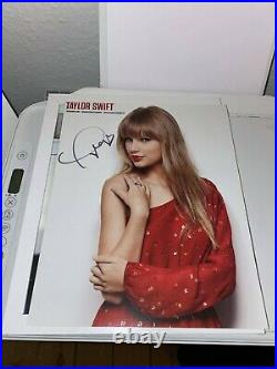Taylor Swift Hand Signed Authentic RED 8x10 Promo Autograph