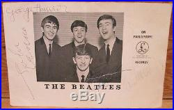 The Beatles Autographed Parlophone Promo Photo Forensic Authenticity Letter