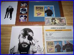 The Beatles / Ringo Starr / Genuine Hand Signed / Vertical Man Promo / Loa / Coa
