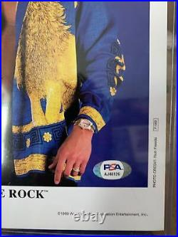 The Rock signed 8x10 Promo Photo psa wwe wwf smackdown rare smell what