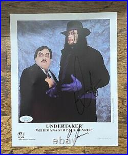 The Undertaker & Paul Bearer Autographed 1994 WWF Promo 8x10 Photograph WWE WWF