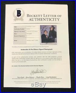 The Undertaker & Paul Bearer Signed To Matt WWE Promo 229 8x10 Photo Beckett COA