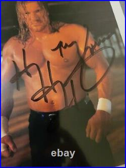 Triple H Signed 8x10 2000 Promo Photo Autograph Wwf Wwe The Game Hhh Rare
