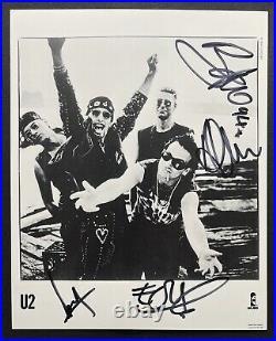 U2 1994 Fully Signed 8x10 Island Records Promo Photo