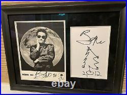 U2 BONO Autograph Promo Signed Xmas Tree Sketch Doodle PSA Framed 2012