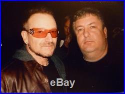 U2 Bono signed 8x10 Promo Photo! In person! Beautiful