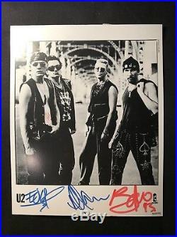 U2 Fully Signed Promo Photo 8/11/93 Wembley London, England +Pass +Ticket