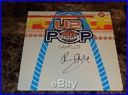 U2 Rare Bono Signed Promo Popmart 12 Double EP Record Autographed Pop Photo COA