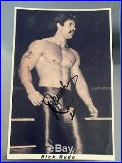 Ultra Rare Ravishing Rick Rude autographed original promo photo 6 x 9