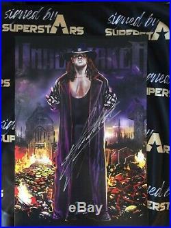 Undertaker Original rare signed 11x14 Poster WCW WWE NXT COA Original Promo Pic