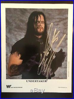 Undertaker RARE Signed WWF Original 8x10 Double Promo Photo Photo P250 Diesel248