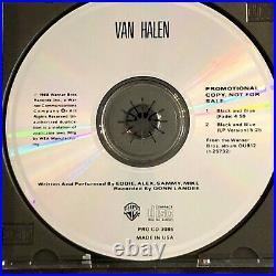 VAN HALEN Signed Promo CD Black & Blue Eddie Sam Alex Michael Edward To Insiders