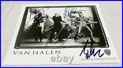 Van Halen 8x10 1995 Promo Photo Signed Eddie Sammy Alex Michael Autographed
