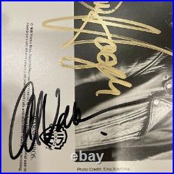 Van Halen (Hagar) Promo Photo Originally Autographed By Eddie Michael Alex Hagar