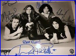 Van Halen SIGNED 8X10 Promo Autographed 1978 Eddie, Alex David Lee Roth Edward