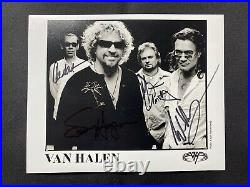 Van Halen Sammy Hagar Fully Signed 8x10 Promo Photo