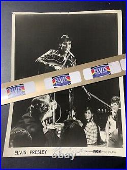 Vernon Presley Signed RCA B&W Promo Photo / Elvis / 68 Comeback Special