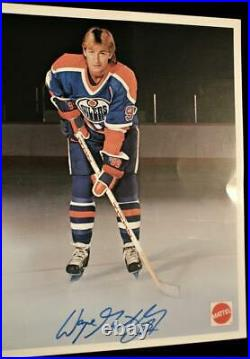 Vintage Early 1980's Wayne Gretzky Mattel Signed Edmonton Oilers Promo Photo