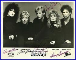 Vintage HEART signed official 8x10 promo photo, Ann & Nancy Wilson, Denny, Mark+