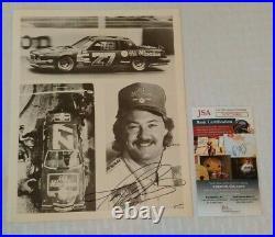 Vintage NASCAR Autographed Signed 8x10 Promo Photo TIM RICHMOND JSA Milwaukee 27