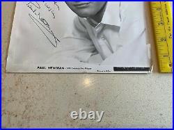 Vintage PAUL NEWMAN AUTOGRAPH in Fountain Pen on 20th Century Fox Promo Photo