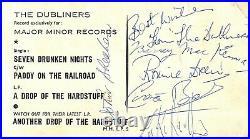 Vintage Signed Autograph Promo Photo Irish Folk Band The Dubliners