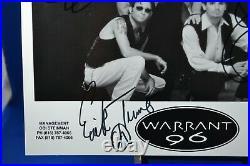 WARRANT Hand Signed 8x10 Promo Photo Jani Lane Erik Turner Jerry Dixon