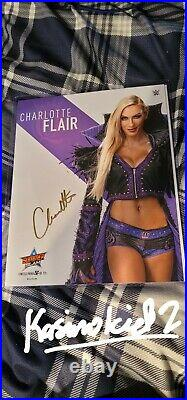 WWE SUMMER SLAM 2021 LIMITED CHARLOTTE FLAIR SIGNED 8x10 PROMO PHOTO #32 OF 175