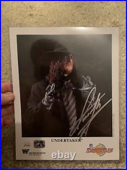 WWE UNDERTAKER P-223 HAND SIGNED AUTOGRAPHED 8X10 PROMO PHOTO Jsa Hard To Find