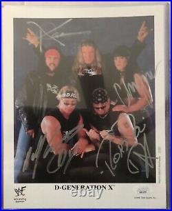 WWE WWF D GENERATION X DX AUTOGRAPH ORIGINAL AUTHENTIC PROMO PHOTO RARE triple h