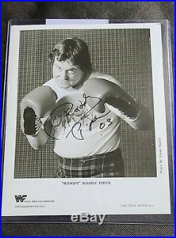 WWE WWF Rowdy Roddy Piper Autographed Original Promo In Boxing Gloves. Very Rare