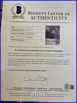 WWF Gorilla Monsoon Bobby Heenan Autographed Promo BAS Full Letter Wrestling WWE