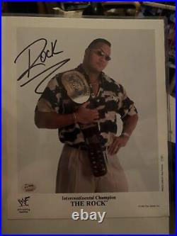 WWF The Rock signed original promo p-453 jsa loa WWE Ic Belt Rare Autographed