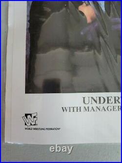 WWF/WWE Undertaker and Paul Bearer AUTOGRAPHED promo Photo
