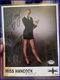 Wcw Signed Miss Hancock Original Promo Psa Rare 8x10 Wwe Wwf Stacy Keibler