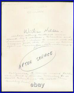 William Holden Orig. 1940's Columbia Coburn Signed Glossy Promo Still