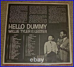 Willie Tyler & LesterTalking Doll/Hello Dummy&Hollywood Palace LPs/Signed Photo