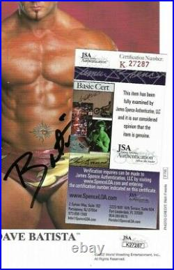 Wwe Batista P-795 Hand Signed Autographed 8x10 Original Promo Photo With Jsa Coa